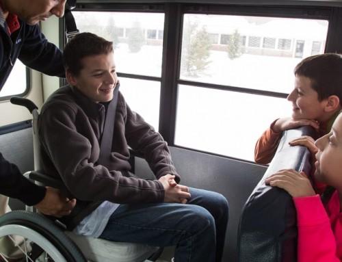 School Bus Restraints Ensure Safety of Children Using Wheelchairs